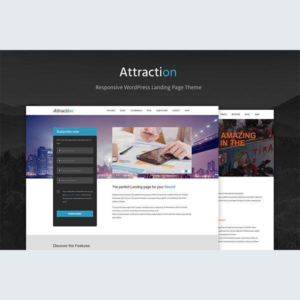 attraction-responsive-wordpress-landing-page-theme
