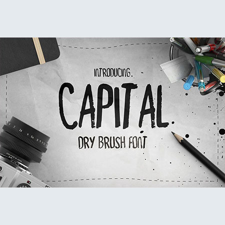 capital-dry-brush-font