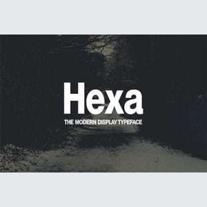 hexa-modern-display-typeface