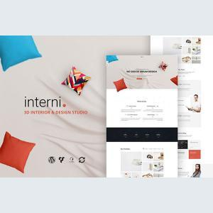 Interni 3D Interior Design Studio WordPress Theme