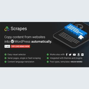 scrapes - automatic web content crawler and auto post plugin for
